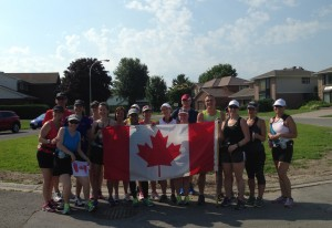 Group Run Celebrating Canada