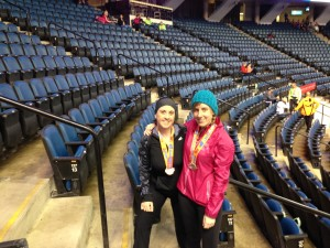 Bridget and I after the race (my roomie)